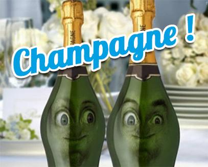 Champagne carte anniversaire anim e tous mes - Carte de voeux animee gratuite ...