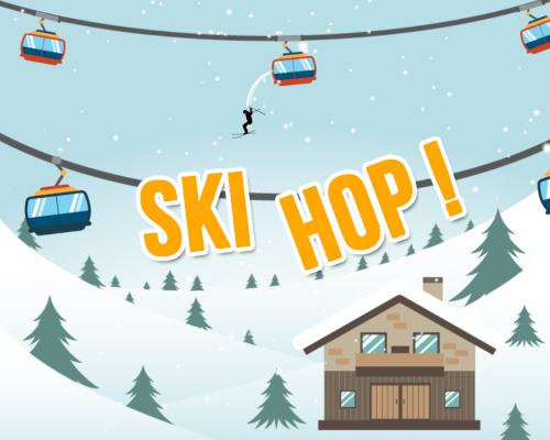 Carte Anniversaire Skieur.Ski Hop Carte Bonnes Vacances Animee Tous Mes Voeux Com