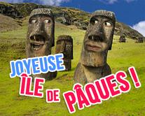 carte virtuelle statues : Joyeuse île de Pâques