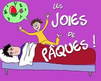 Les joies de Pâques - carte virtuelle humoristique personnalisable