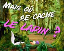 Lapin caché 2 - carte virtuelle humoristique personnalisable