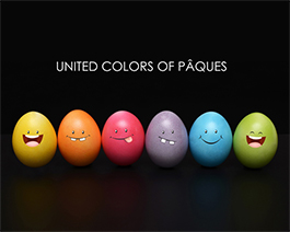 United Colors of Pâques - carte virtuelle humoristique personnalisable
