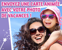 carte virtuelle vacances : Ma carte postale animée