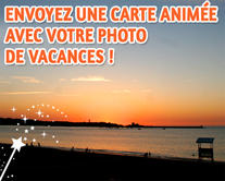 carte virtuelle carte postale animée : Ma photo de vacances