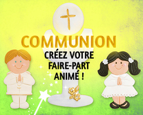 carte virtuelle animés : Communion