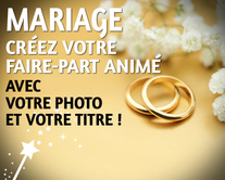 carte virtuelle photo : Mariage