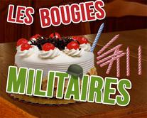 carte virtuelle gâteau : Les bougies militaires