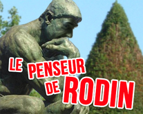 carte virtuelle sketch : Le penseur de Rodin
