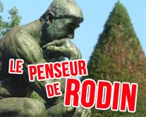 Le penseur de Rodin - carte virtuelle humoristique à personnaliser