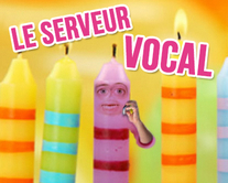 carte virtuelle gâteau : Le serveur vocal