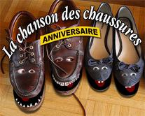 carte virtuelle pied : Chanson des chaussures