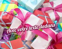 carte virtuelle anniversaire : Le jour des cadeaux