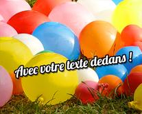 carte virtuelle anniversaire : Des ballons bien gonflés