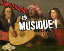 Un anniversaire en musique - carte virtuelle humoristique à personnaliser