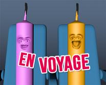 En voyage - carte virtuelle humoristique à personnaliser