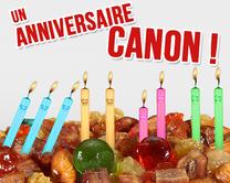 carte virtuelle gâteau : Un anniversaire canon