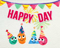 carte virtuelle rigolote : Happy day