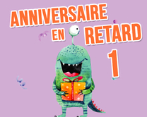 carte virtuelle femme : Anniversaire en retard - monstre 1