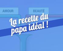 La recette du papa idéal - carte virtuelle humoristique à personnaliser