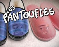 Les pantoufles - carte virtuelle humoristique personnalisable