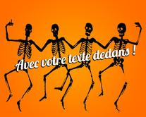Les squelettes qui dansent - carte virtuelle humoristique personnalisable
