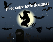 cartes virtuelles personnalisables Halloween