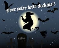 Du balai la sorcière ! - carte virtuelle humoristique personnalisable