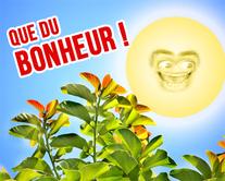 Que du bonheur - carte virtuelle humoristique à personnaliser