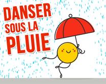 Danser sous la pluie - carte virtuelle humoristique personnalisable