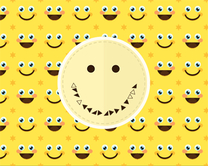 carte virtuelle happy : Smileys