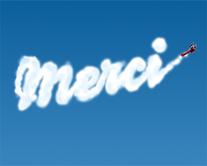 Merci aérien - carte virtuelle humoristique personnalisable
