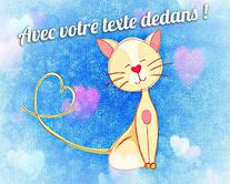 Merci comme chat ! - carte virtuelle humoristique personnalisable