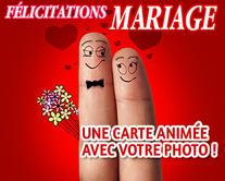 carte virtuelle photo : Félicitations Mariage