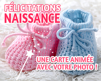 carte virtuelle photo : Félicitations Naissance
