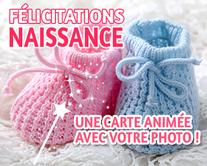 Félicitations Naissance - carte virtuelle humoristique personnalisable