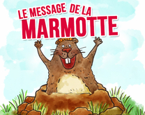 Le message de la marmotte - carte virtuelle humoristique à personnaliser