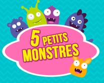 5 petits monstres - carte virtuelle humoristique à personnaliser