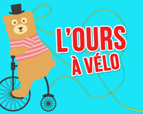 carte virtuelle message : L'ours à vélo