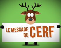 carte virtuelle femme : Le message du cerf