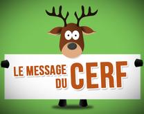 Le message du cerf - carte virtuelle humoristique à personnaliser