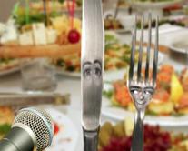 Le couteau et la fourchette - carte virtuelle humoristique à personnaliser