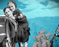 Bonnie & Clyde - carte virtuelle humoristique à personnaliser