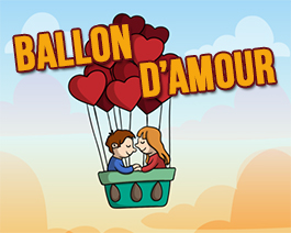 Ballon d'amour - carte virtuelle humoristique personnalisable
