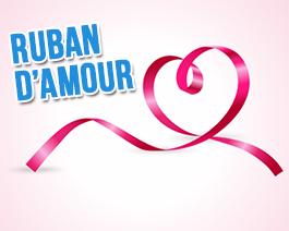 Ruban d'amour - carte virtuelle humoristique personnalisable