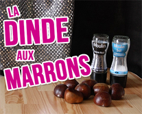 carte virtuelle noël : La dinde aux marrons
