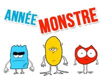 Année monstre - carte virtuelle humoristique à personnaliser