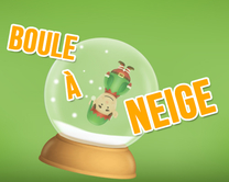 carte virtuelle noël : Boule à neige