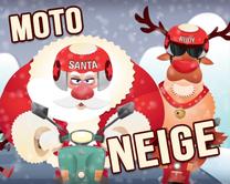 Moto neige - carte virtuelle humoristique à personnaliser